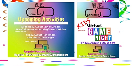 B.E. CONNECTED - Kids Virtual AfroFusion Dance Class Tickets