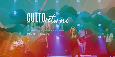 INJ - Culto Presencial - 9h30 -  09/08/2020 - Culto Manhã ingressos