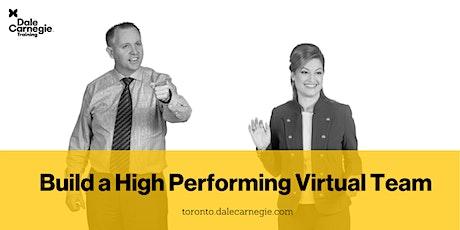 Build a High Performing Virtual Team tickets