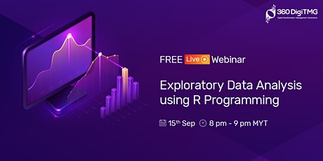 Exploratory Data Analysis using R Programming on 15th Sept (20:00 MYT) tickets