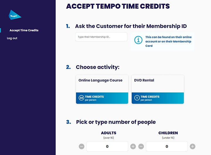 Online Tempo Time Credits Demo Session - Recognition Partners image