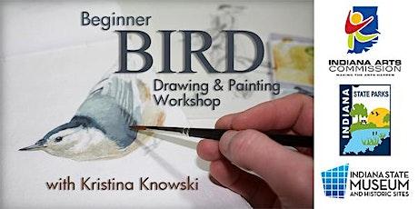 Beginner Bird Drawing & Painting Workshop (Summer Part 2) tickets