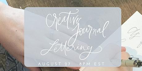 Creative Journal Lettering Virtual Workshop tickets