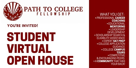 Path to College Student Open House tickets