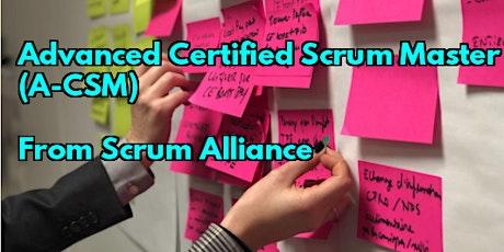 ACSM: Sep 23-25-Eastern-Advanced Certified ScrumMaster from Scrum Alliance® tickets