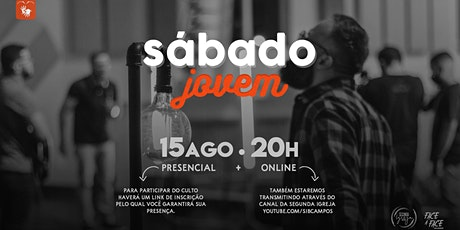 SÁBADO JOVEM - 15/08/2020 ingressos