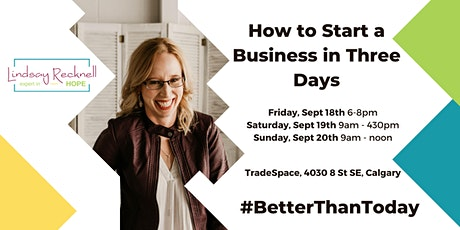 How to Start a Business in Three Days tickets