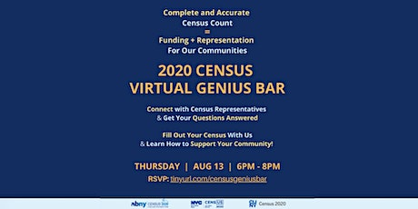 Census 2020 Virtual Genius Bar and Q&A! tickets