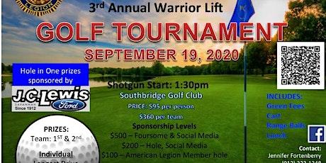 Warrior Lift Golf Tournament tickets