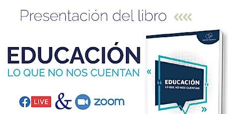 Presentación del libro Educación: lo que no nos cuentan, de Gabriel Sánchez entradas