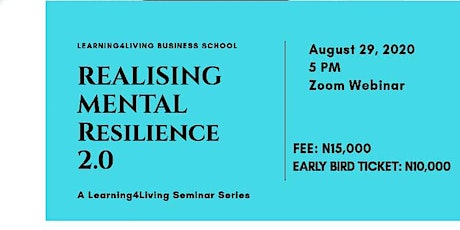 REALIZING MENTAL RESILIENCE 2.0 tickets