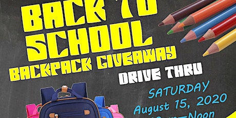 Back to School Backpack Giveaway Drive-Thru tickets