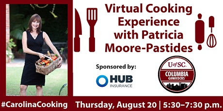 Virtual Cooking Experience with Patricia Moore-Pastides tickets