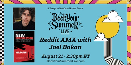 Reddit Ask Me Anything with Joel Bakan tickets