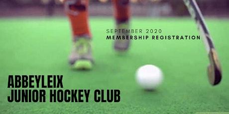 Abbeyleix Junior Hockey Club - Membership Registra tickets