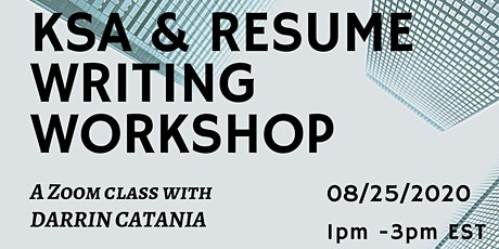 KSA & Resume Writing Workshop tickets