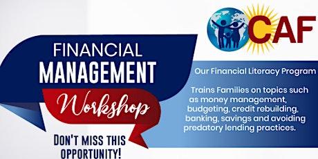 Financial Management Workshop / Taller sobre Manejo de Finanzas entradas
