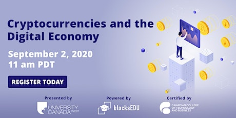 Cryptocurrencies and the Digital Economy tickets