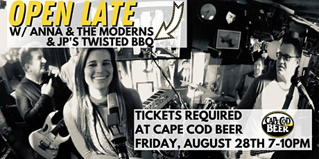 OPEN LATE w/ Food from JP's Twisted BBQ & Live Music by Anna & the Moderns tickets