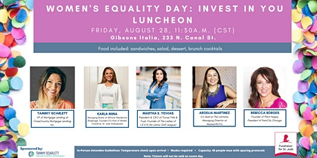 Women's Equality Day: Invest in YOU Luncheon tickets