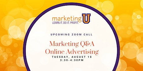 Free Q&A: Online Advertising for Small Business tickets