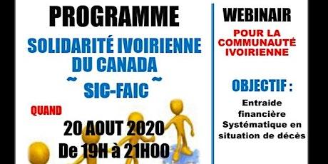 Solidarité Ivoirienne du Canada billets