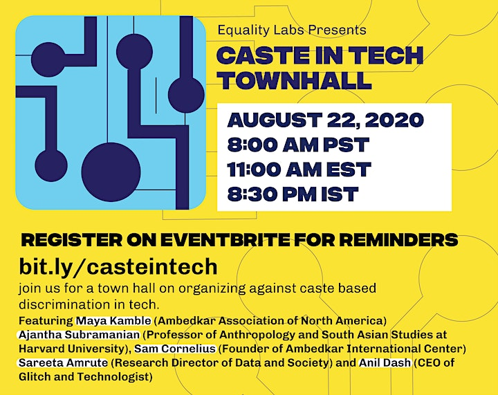 Caste in Tech Townhall image
