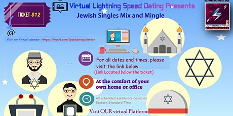 ZOOM Sunday Virtual Jewish Dating for all 40s & over . Beshert seekers! tickets