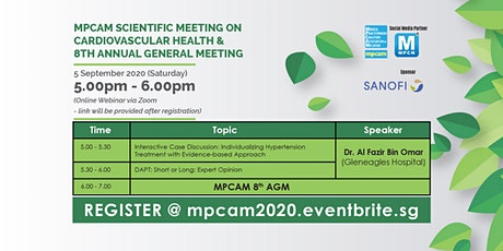 MPCAM SCIENTIFIC MEETING ON CARDIOVASCULAR HEALTH & MPCAM 8th AGM tickets
