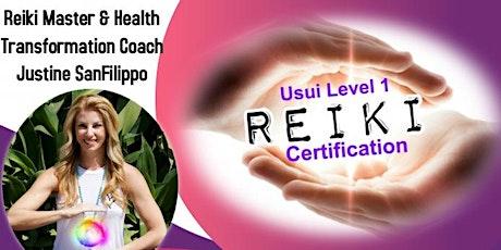 ONLINE VIA ZOOM! Usui Reiki Level 1 Training & Certification tickets