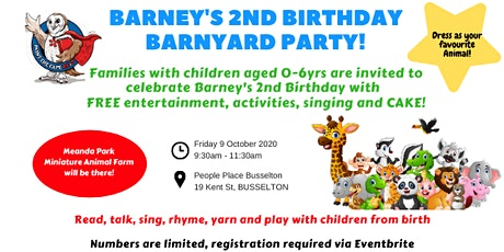 Paint the Cape REaD - Barney's 2nd Birthday tickets