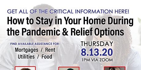 Stay in your Home with Mortgage/Rent Relief *Open to the Public* tickets