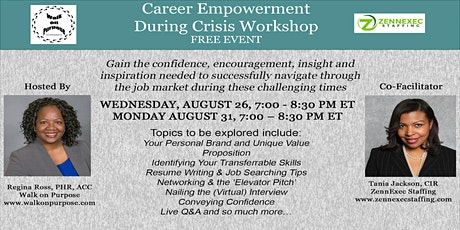 Career Empowerment During Crisis Webinar [FREE EVENT] tickets