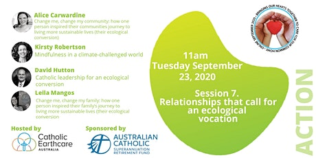 Session 7. Relationships that call for an ecological vocation tickets