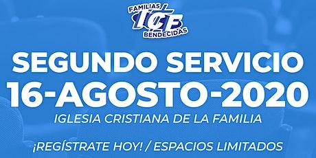 Servicio ICF - 16 de agosto de 2020  - Segundo Servicio - 11AM tickets