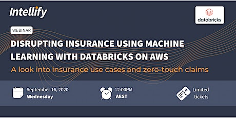 Disrupting Insurance using Machine Learning with Databricks on AWS tickets