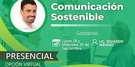 Taller: Comunicación sostenible entradas
