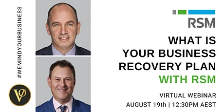 What's Your Business Recovery Plan | A Webinar With RSM tickets