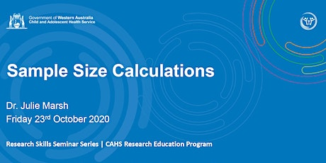 Sample Size Calculations  - 23 Oct tickets