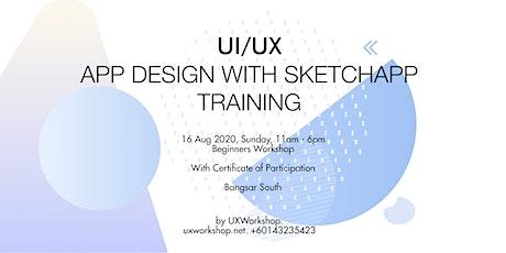 UI/UX Design with SketchApp tickets
