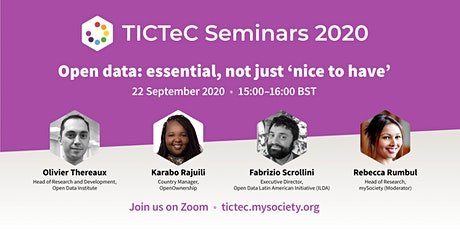 TICTeC Seminar - Open data: essential, not just 'nice to have' tickets