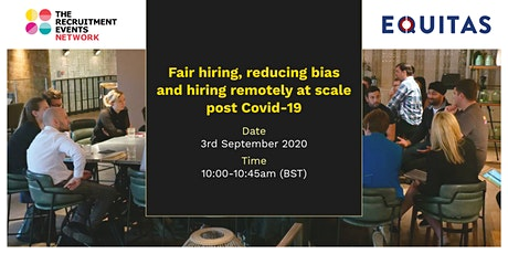 Fair hiring, reducing bias and hiring remotely at scale post Covid-19 tickets