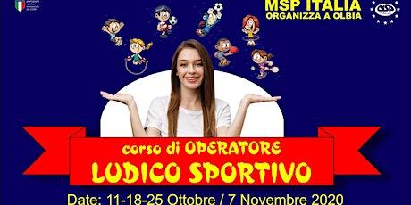 """CORSO MSP ITALIA """"OPERATORE LUDICO-SPORTIVO"""""""