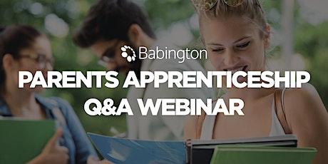 Parents Apprenticeship Q&A tickets