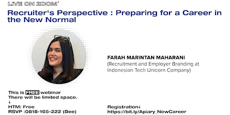 [Webinar]Recruiter's Perspective : Preparing for a Career in The New Normal tickets