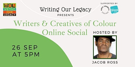 Writers & Creatives of Colour Online Social: with Jacob Ross tickets