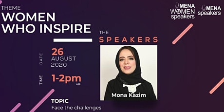 Free Webinar -  Face the challenges with Mona Kazim tickets