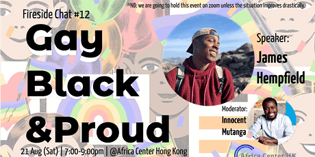Fireside Chat #12| Gay, Black & Proud! tickets