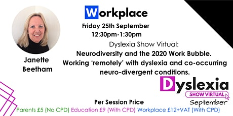 Neurodiversity and the 2020 Work Bubble. tickets