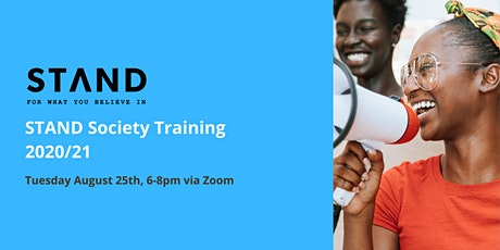 STAND Society Training 2020/21 tickets